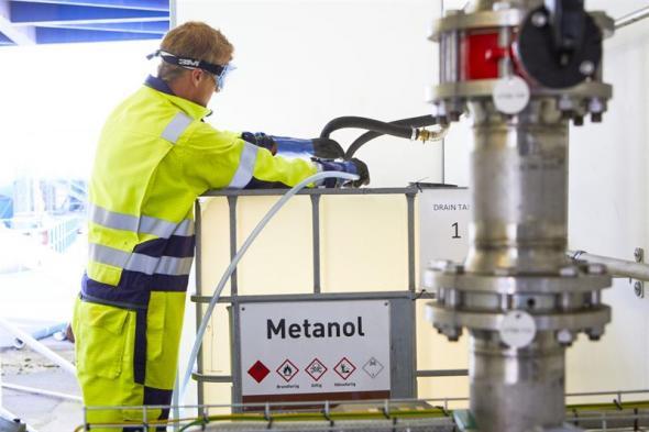 Den 22 juni tankade Stena Line för första gången metanol återvunnen från svensk ståltillverkning