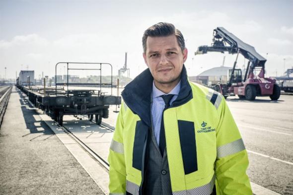 Elvir Dzanic, VD på Göteborgs Hamn AB.