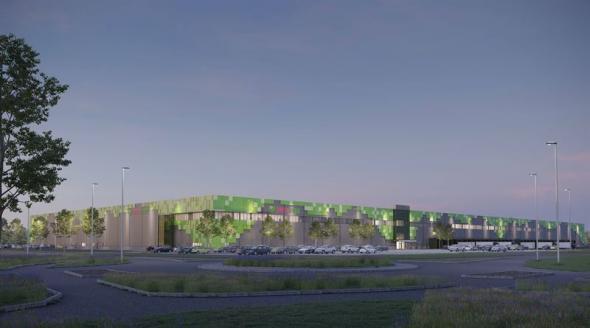 Den nya produktions- och logistikanläggningen beräknas tas i drift under andra kvartalet 2023 (bilden är en illustration).