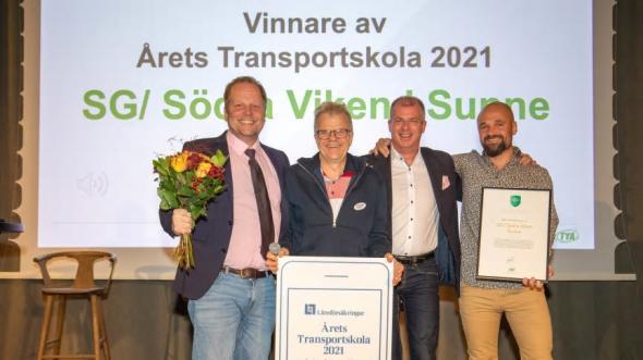 Glada representanter från SG Södra Viken. Från vänster: Kennet Berg Gunnar Berggren Johan Brandenfeldt Pontus Jonsson.
