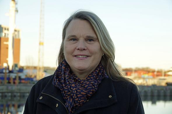 Pia Berglund, nationell samordnare för inrikes sjöfart och närsjöfart på Trafikverket.