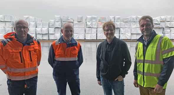 På bilden från vänster: Lars Widelund, Ola Isaksson, Anders Marklund och Kenneth Wallin.